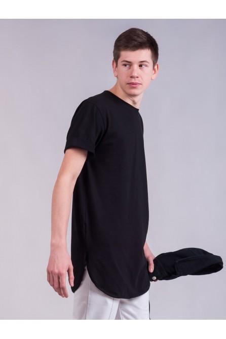 Удлиненная футболка Black
